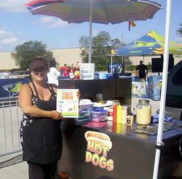 Debi's hot dog cart