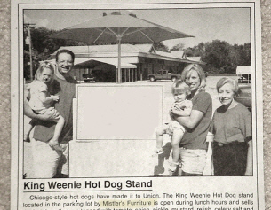 King Weenie Hot Dogs