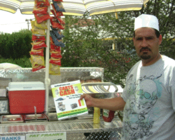 Fat Franks Hot Dog Cart