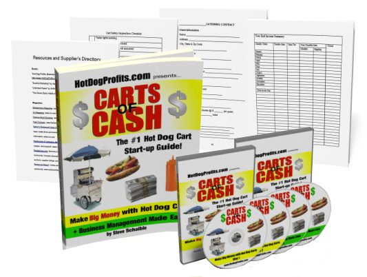 hot dog cart training book