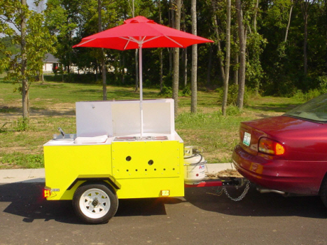 Steve's first home made hot dog cart